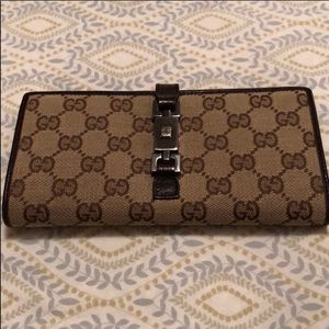 Gucci New Jackie Continental Wallet Monogram GG